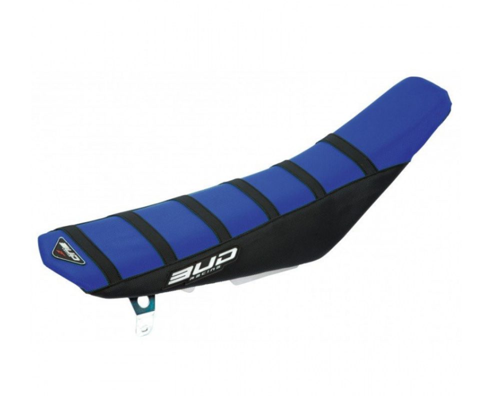SEAT COVER BUDRACING KTM 11-15 BLUE/BLACK/BLACK STRIPES