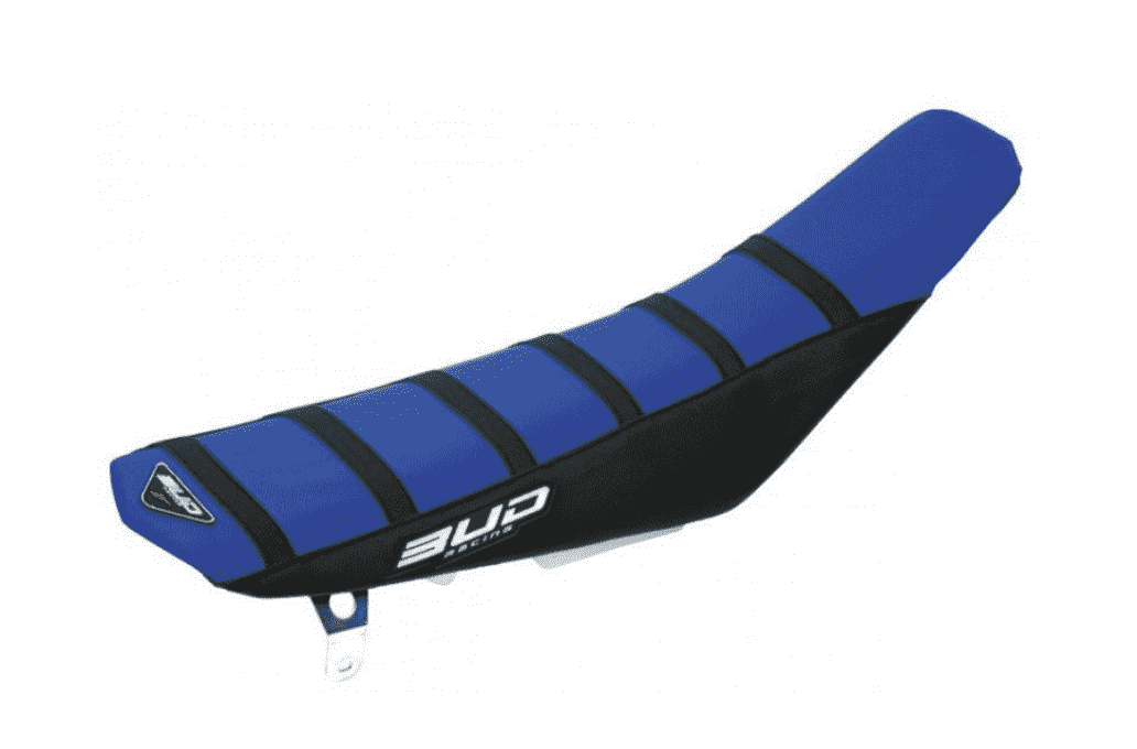 SEAT COVER BUDRACING SUZUKI RMZ 450 08-17 BLACK / BLUE STRIPES