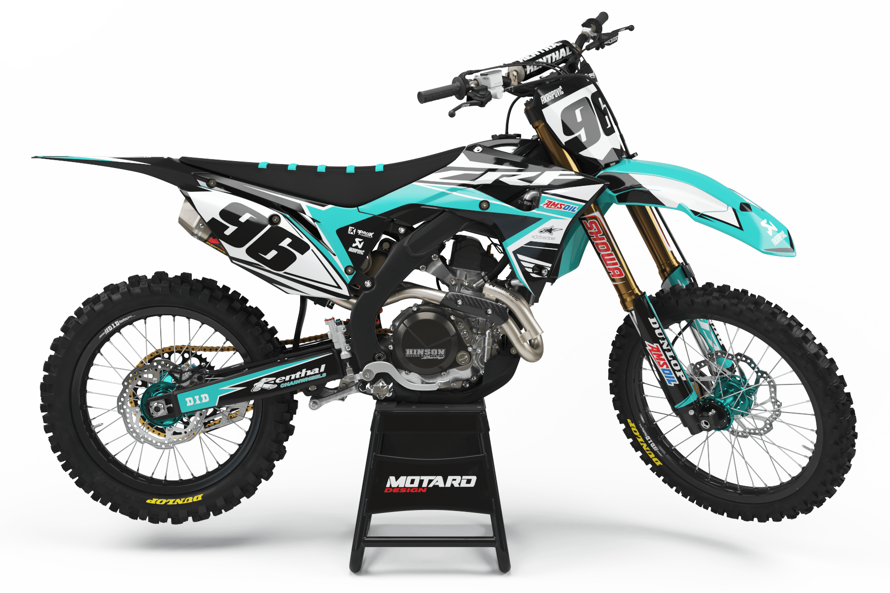 HONDA GRAPHICS KIT - AKRA TEAL