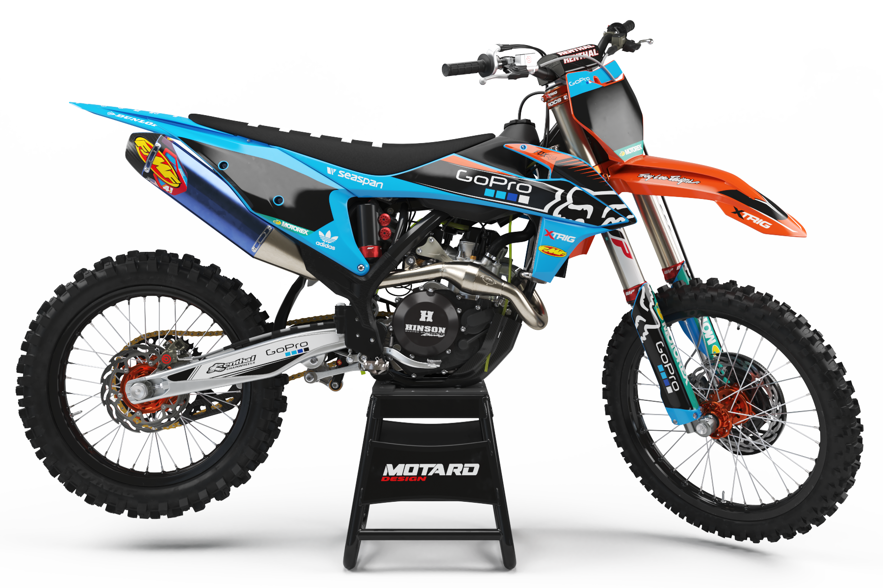 KTM GRAPHICS KIT - BLUE FOX