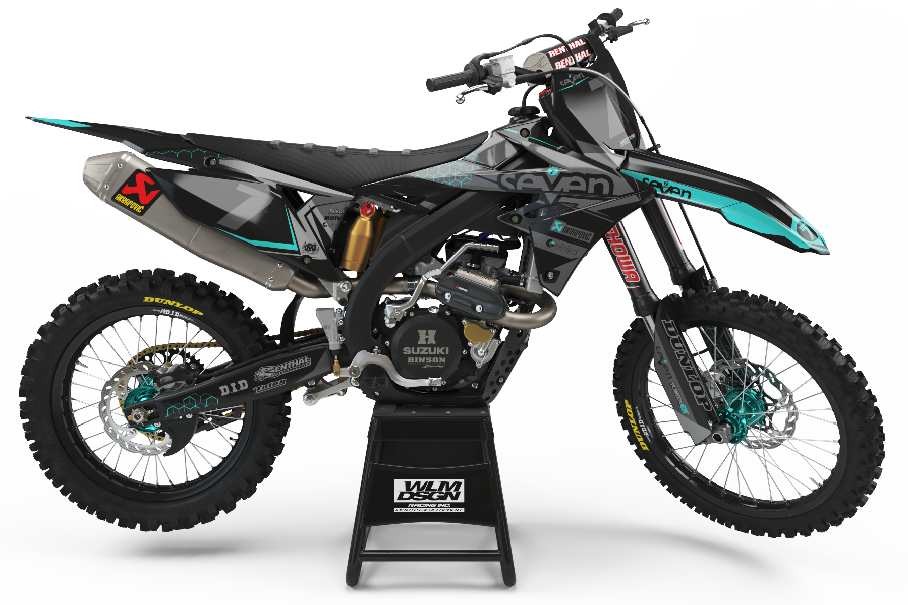SUZUKI GRAPHICS KIT - BRIDGE TEAL