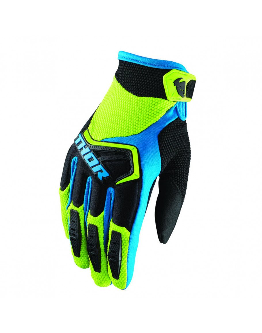 Rukavice Thor Spectrum S8 green/black/blue