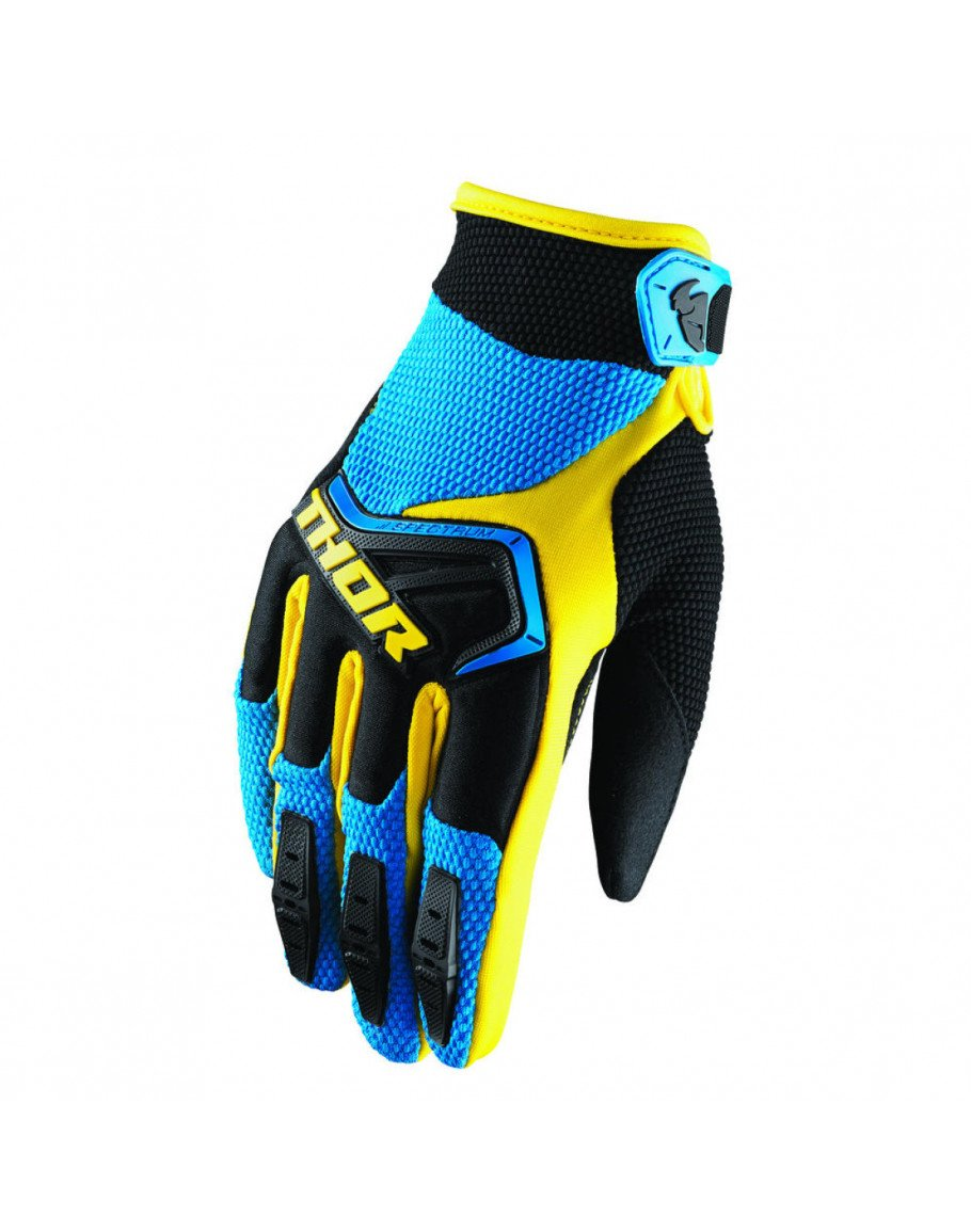 Rukavice Thor Spectrum S8 blue/black/yellow
