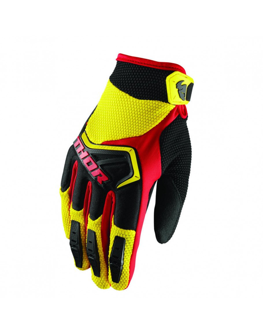 Rukavice Thor Spectrum S8 yellow/black/red